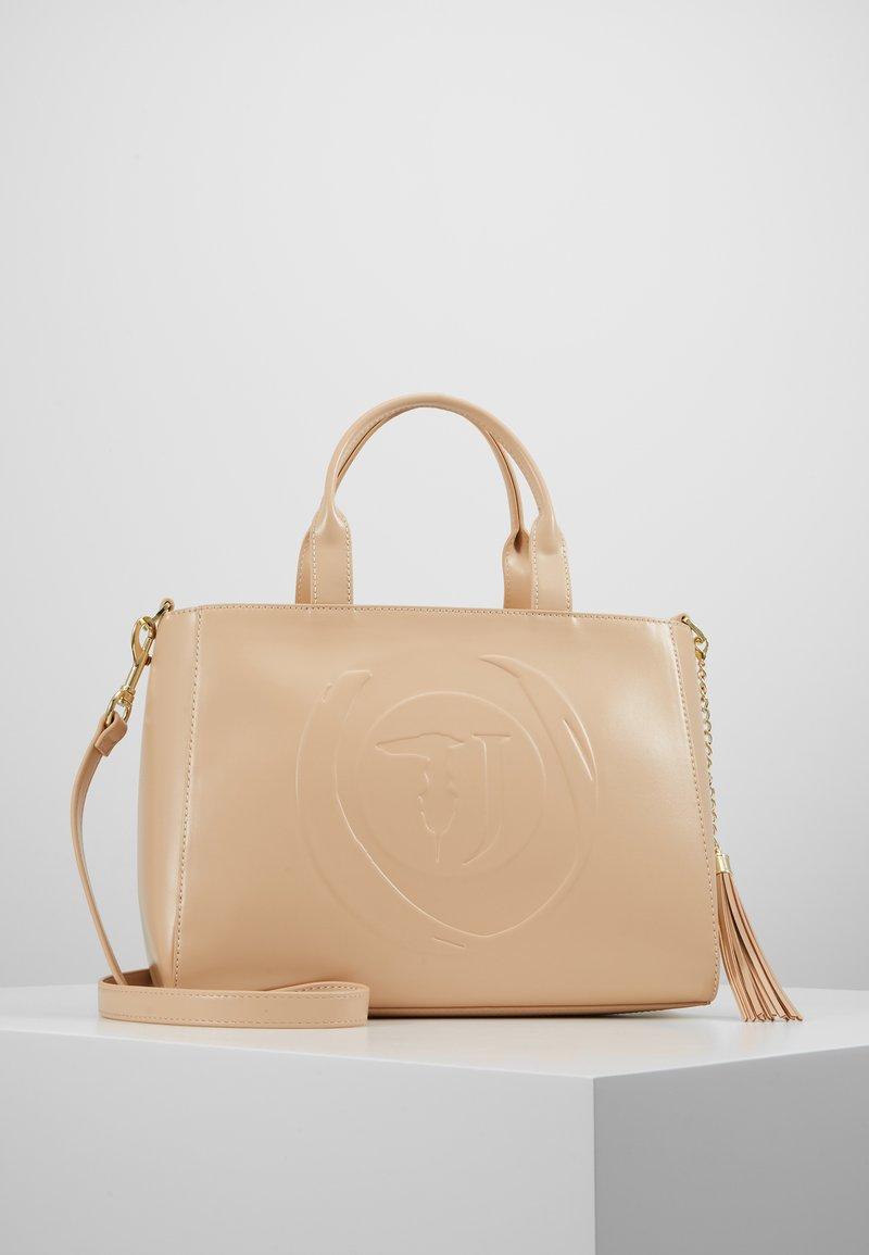 Trussardi Jeans - FAITH SMOOTH SHOPPER - Handbag - nude