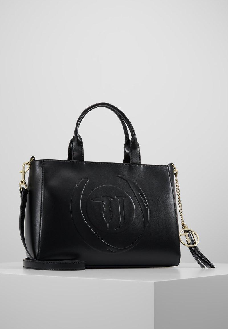 Trussardi Jeans - FAITH SMOOTH SHOPPER - Handbag - black