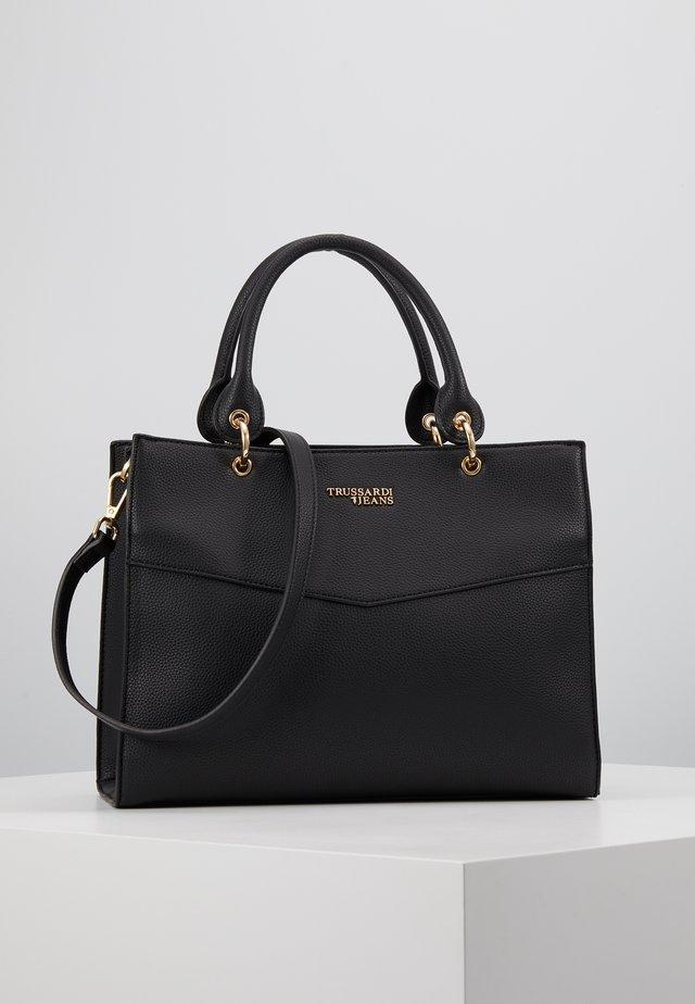 CHARLOTTE TOP HANDLE TUMBLED - Håndtasker - black