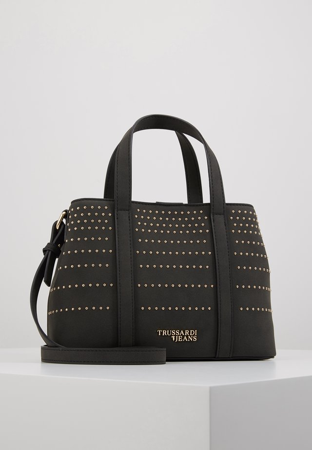 ANITA TOTE STRIPES STUDS - Handbag - black