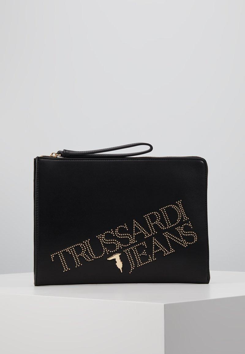 Trussardi Jeans - ELETTRA POUCH STUDS - Clutch - black