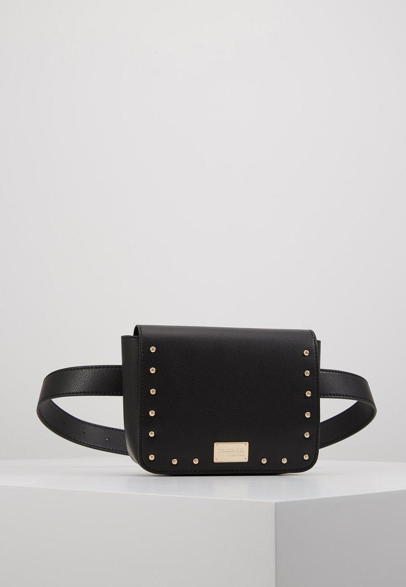 Trussardi Jeans - DAFNE BELT BAG MICRO STUDS - Ledvinka - black