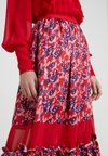 Three Floor - PETAL PLEASER SKIRT - Maxi skirt - scarlet red