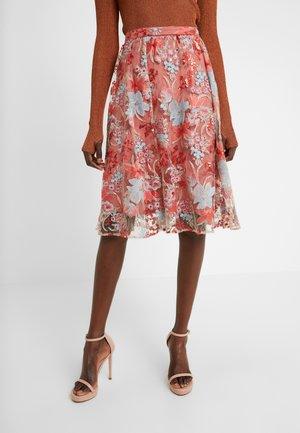 EXCLUSIVE SHORT SKIRT - Áčková sukně - red multi
