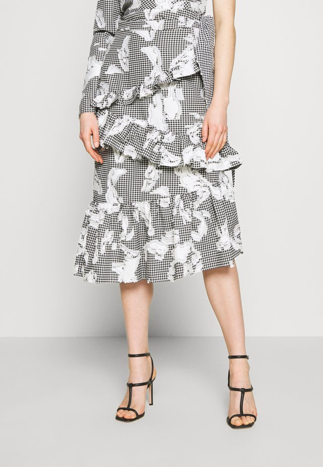 SANTANA SKIRT - A-line skirt - black/off white
