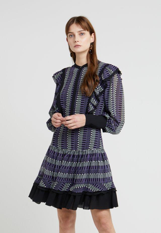 FOLKORE DRESS - Denní šaty - black/violet