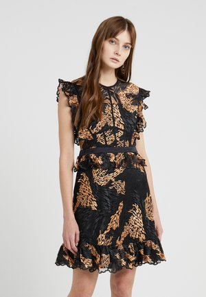 LOVE FERN DRESS - Robe de soirée - cantaloupe/black