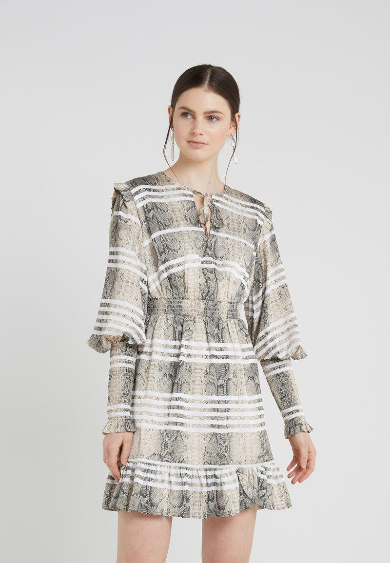 Three Floor - SERPENT SIDE DRESS - Korte jurk - multicolor