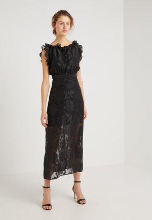 SEMI CHARMED DRESS - Cocktailjurk - black/silver metallic