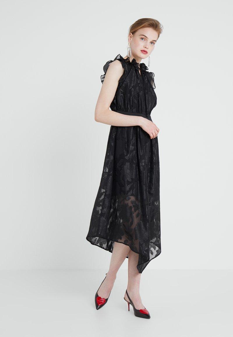 Three Floor - MATRIX DRESS - Vestido de cóctel - black/silver/metallic
