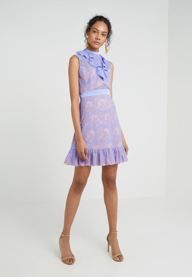 Cocktail dress / Party dress - periwinkle/coral pink