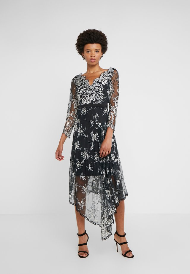 WHISPER DRESS - Cocktail dress / Party dress - black/off white