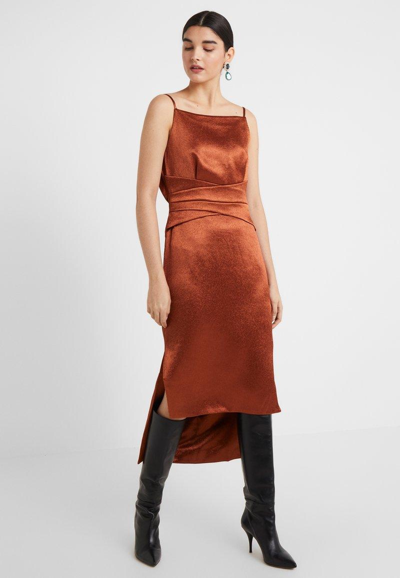 Three Floor - ELIZABETH DRESS - Cocktailklänning - bronze