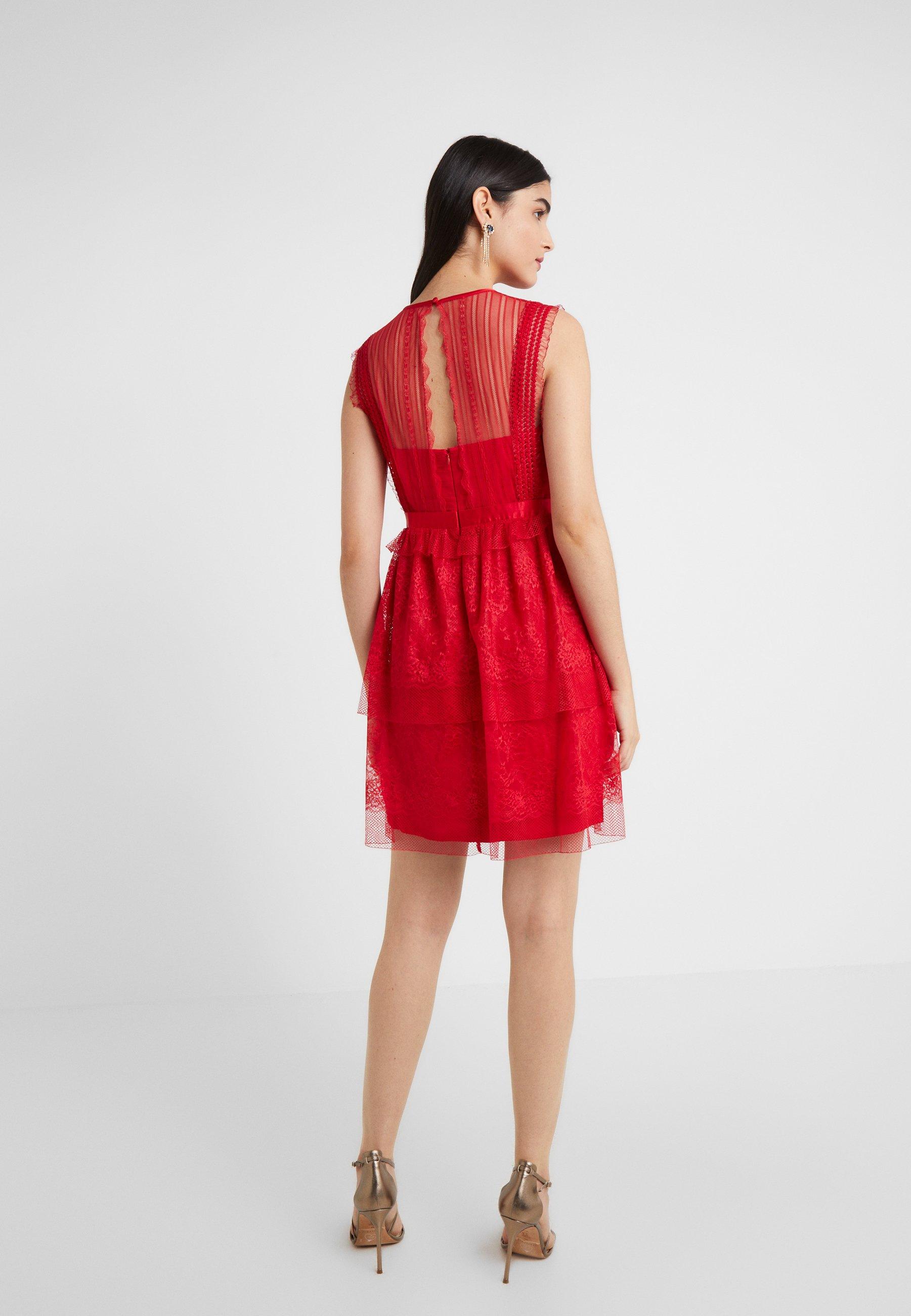 Three Floor Fearless Dress - Juhlamekko Scarlet Red