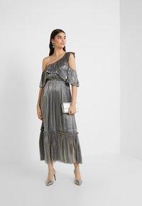 Three Floor - MOON STONE DRESS - Cocktailkleid/festliches Kleid - pewter metallic - 1