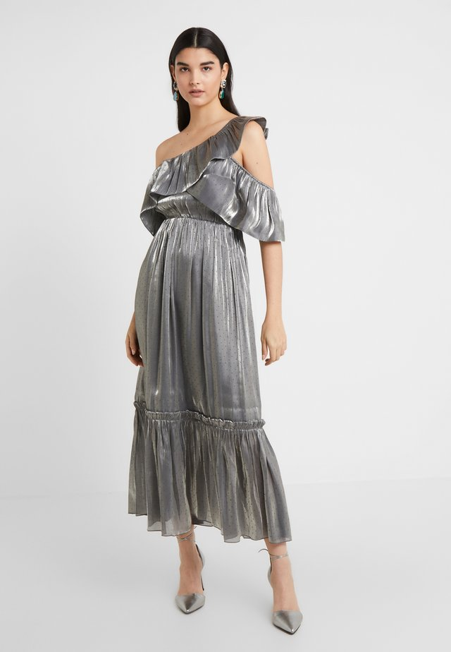 MOON STONE DRESS - Cocktail dress / Party dress - pewter metallic