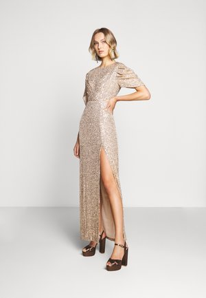 EXCLUSIVE SEQUIN GOWN - Iltapuku - gold