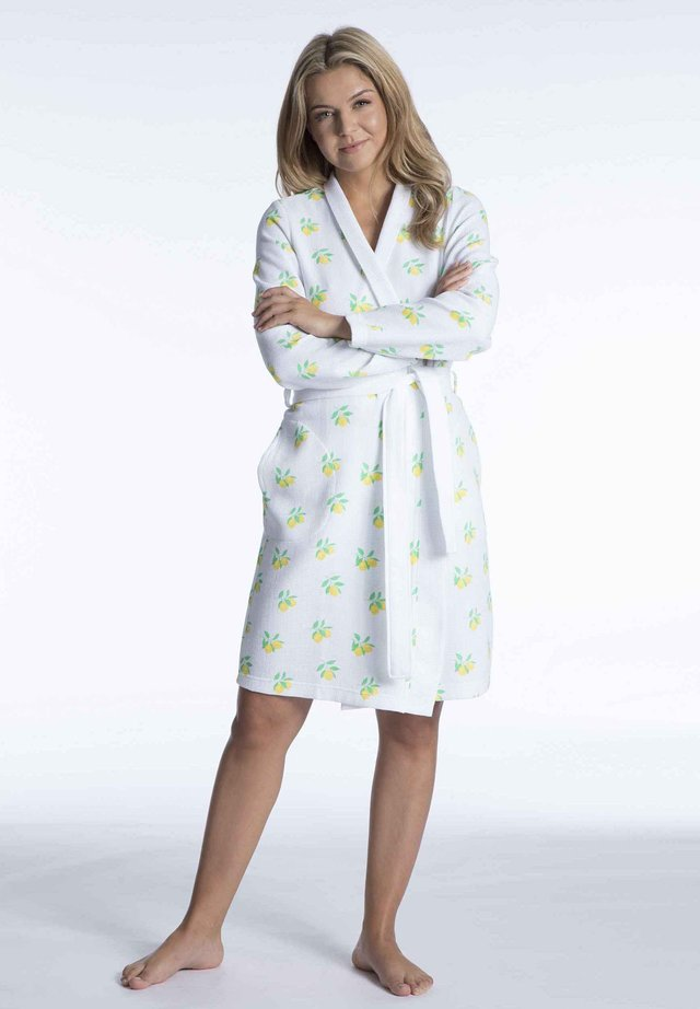 Dressing gown - white/green