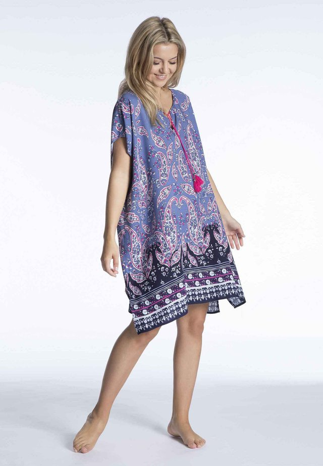 Day dress - purple/white/light pink