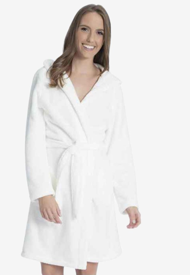 MIT KAPUZE - Dressing gown - off-white