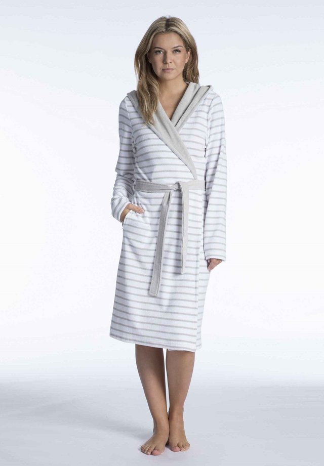 Dressing gown - grey-white