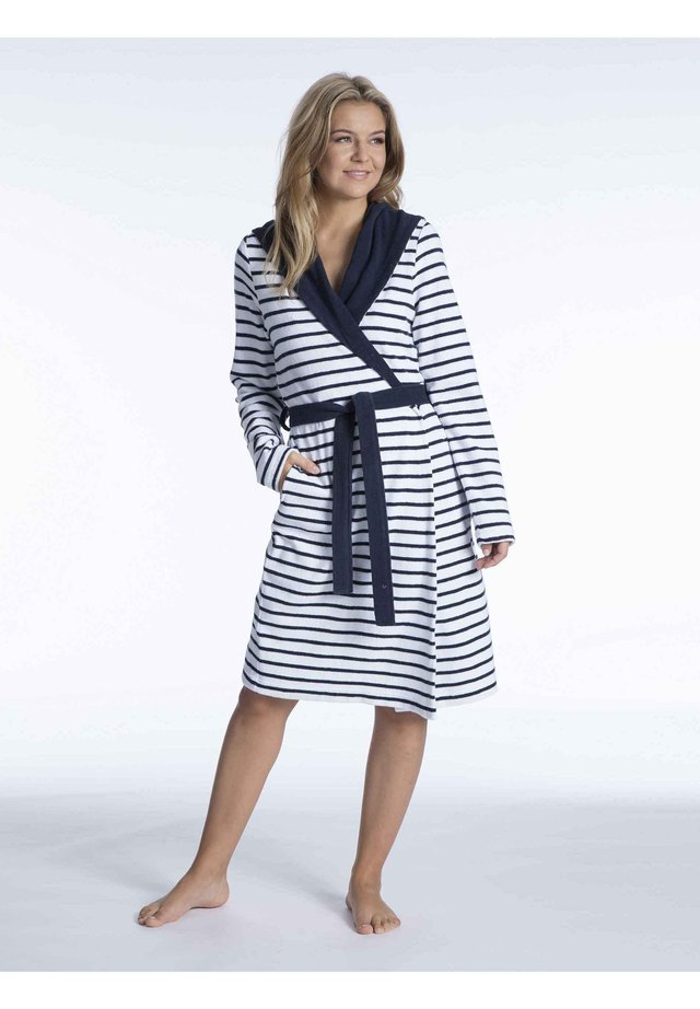 Dressing gown - navy-white