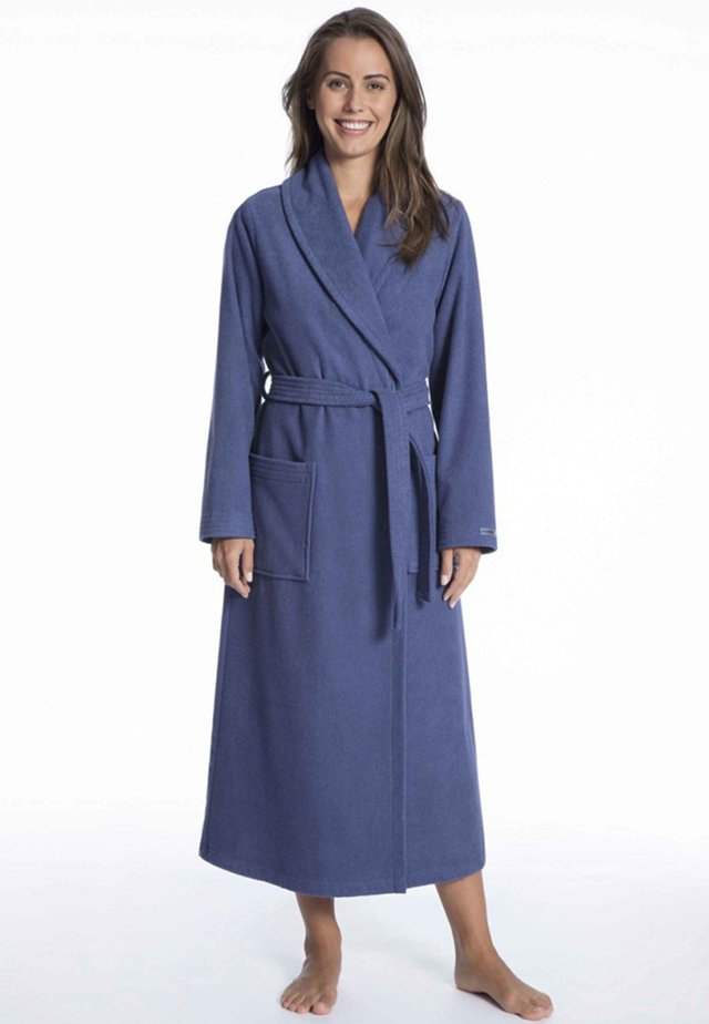MIT SCHALKRAGEN - Dressing gown - deep cobalt