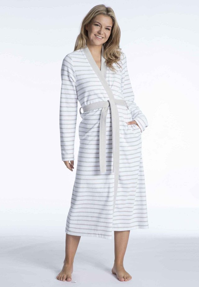 Dressing gown - grey/white