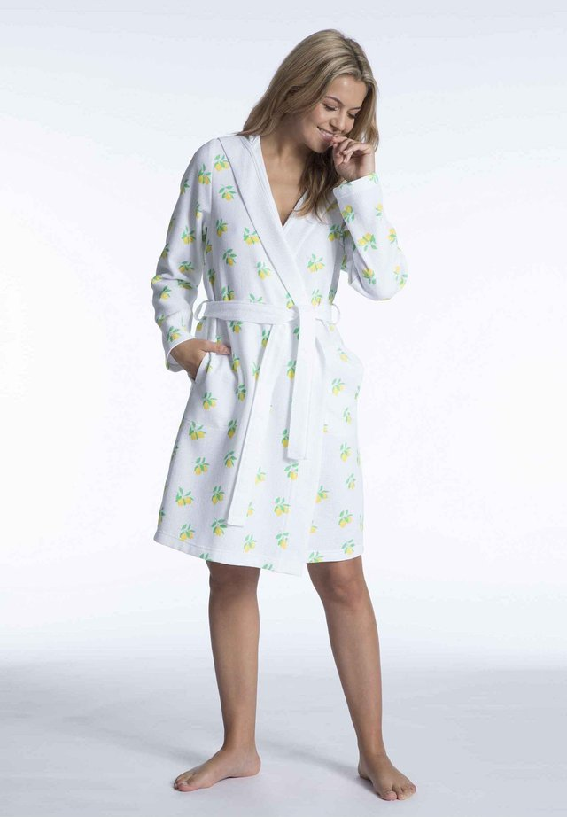 BADEMANTEL MIT KAPUZE AUS MINI-PIQUÉ - Dressing gown - catania print
