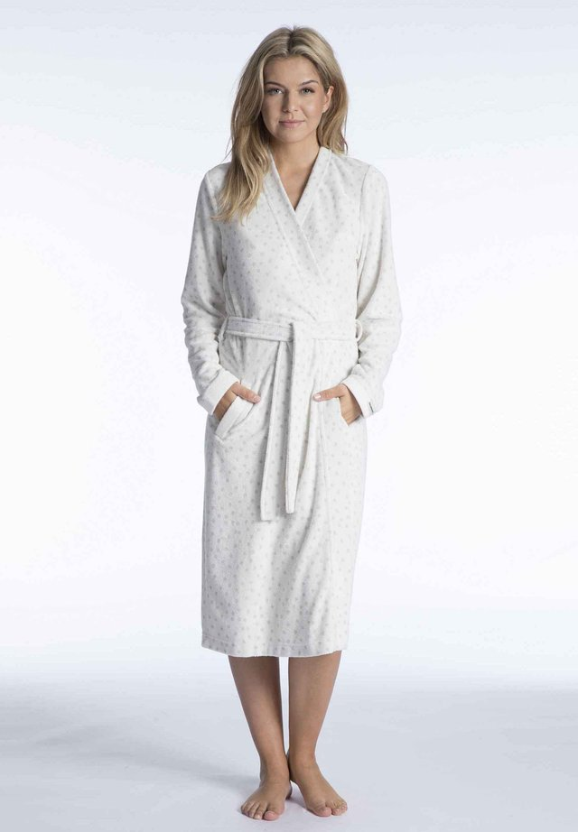 Dressing gown - off-white-grey