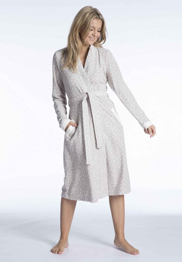 Dressing gown - sand/off white