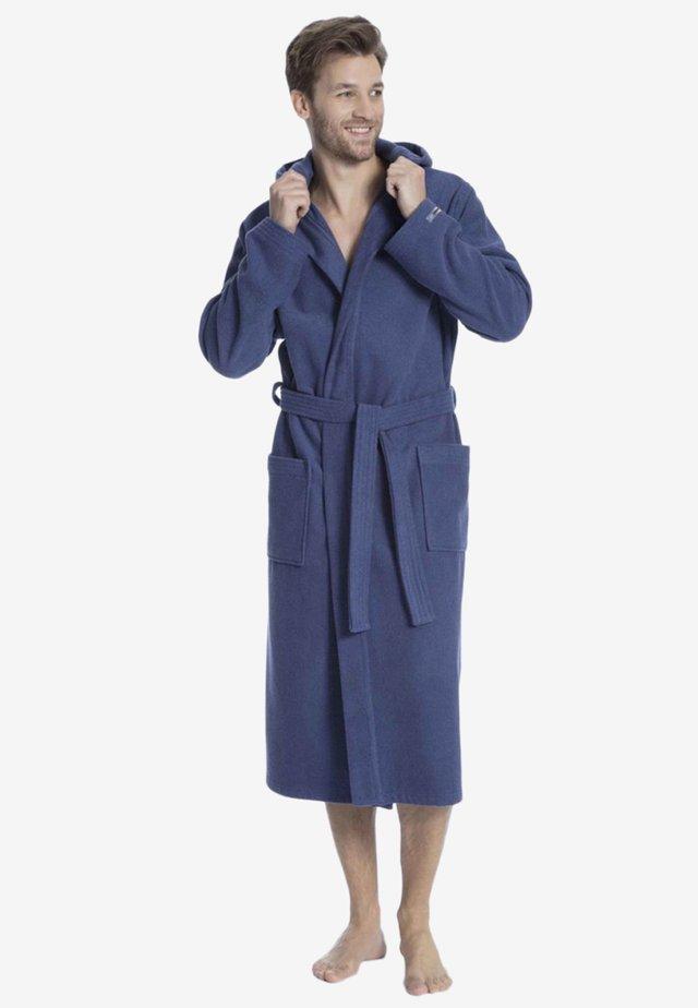 MIT KAPUZE - Dressing gown - deep cobalt