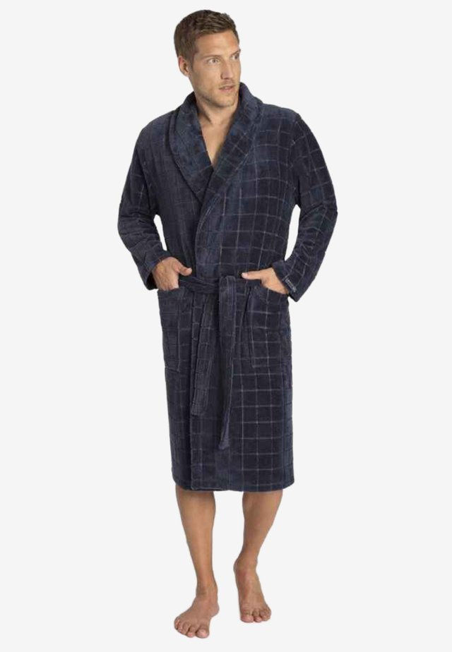 Dressing gown - steel/navy