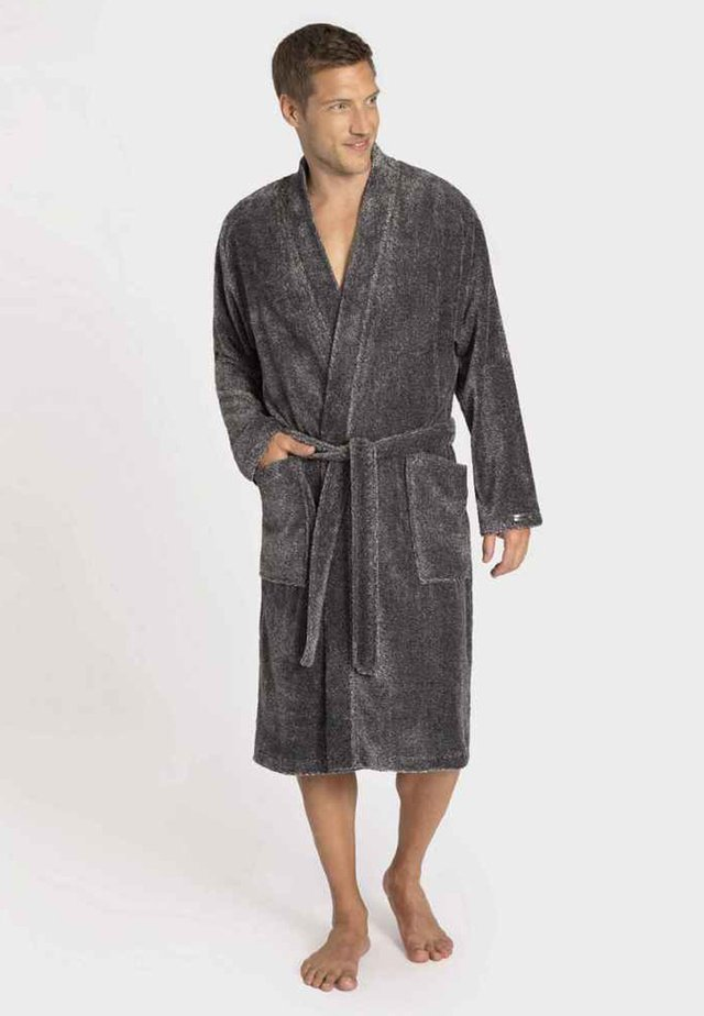 Dressing gown - black mouliné