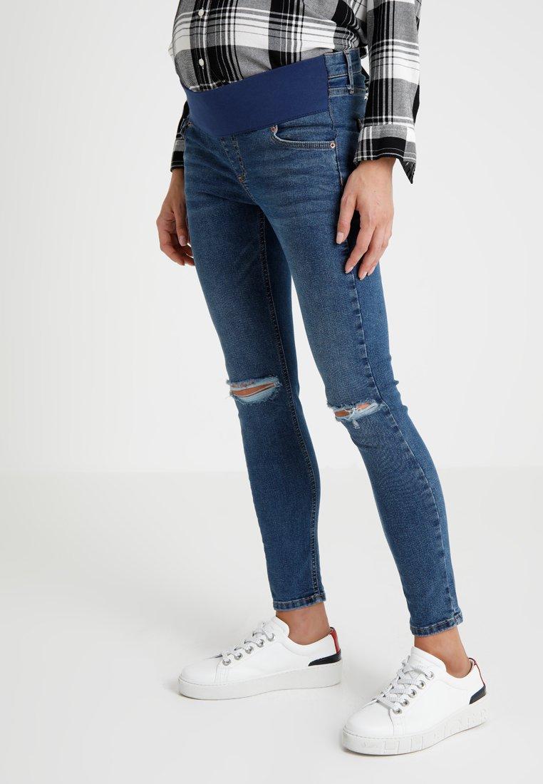 Topshop Maternity - JAM      - Jeans Skinny Fit - blue denim