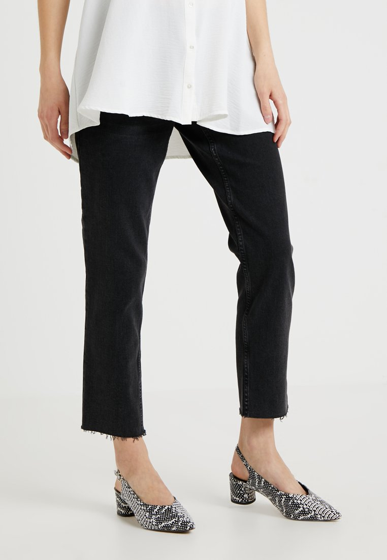 Topshop Maternity - Jeansy Straight Leg - washed black
