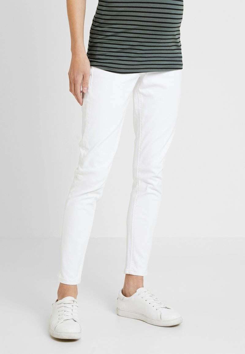 Topshop Maternity - JAMIE UNDER - Jeans Skinny Fit - white