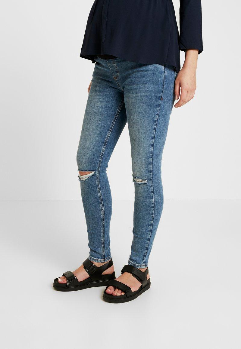 Topshop Maternity - RIP JAMIE - Jeans Skinny Fit - blue denim