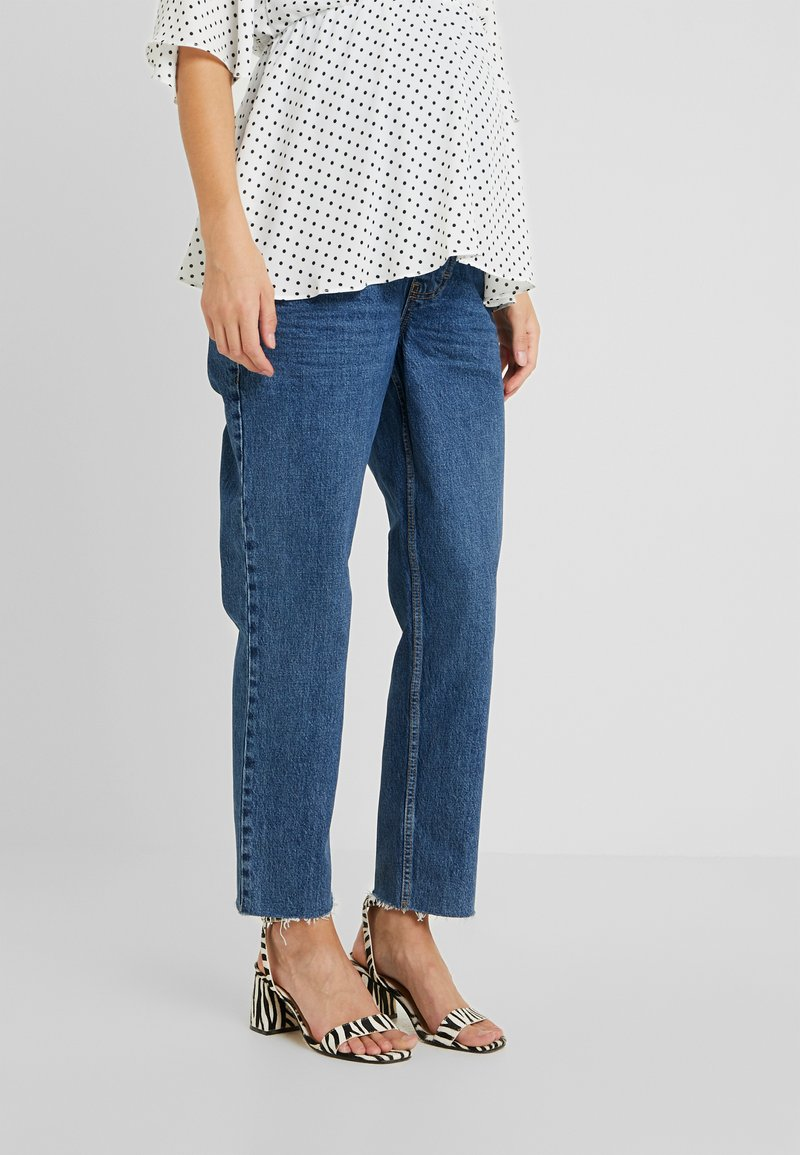 Topshop Maternity - Straight leg jeans - blue denim