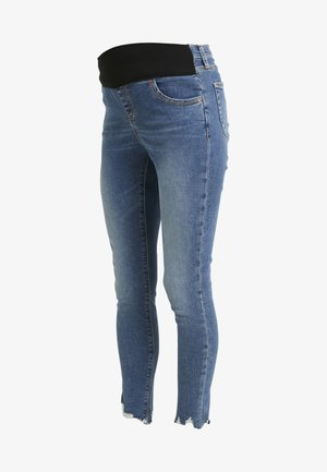 JAMIE JAGGED HEM - Jeansy Skinny Fit - blue denim