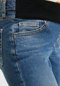 Topshop Maternity - JAMIE JAGGED HEM - Jeans Skinny Fit - blue denim - 5