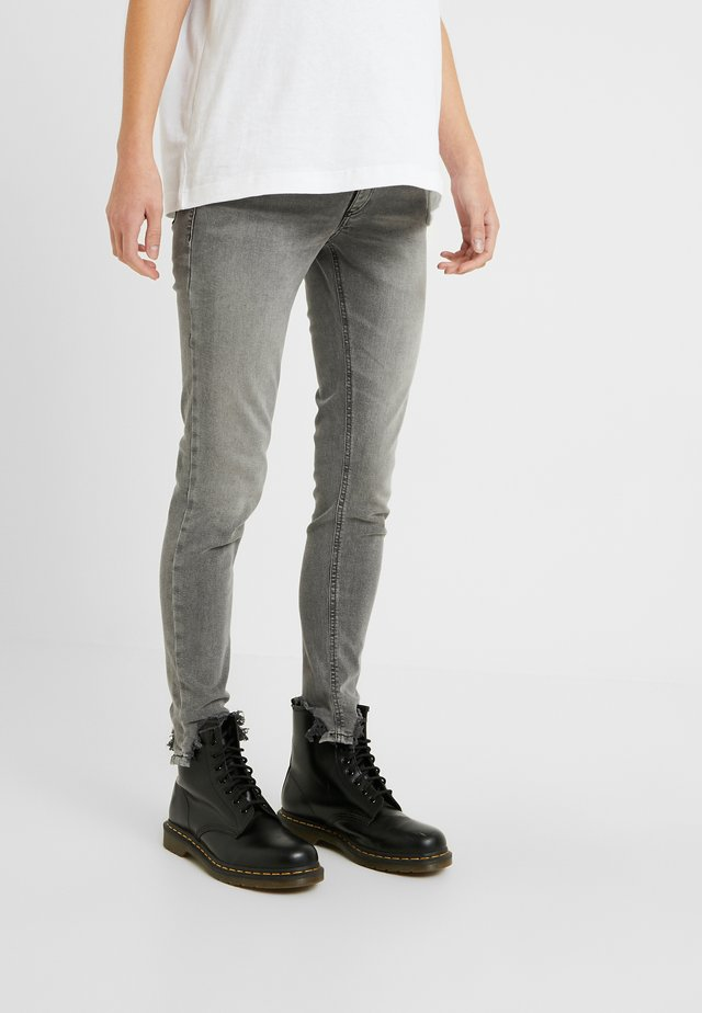 JAMIE JAGGED HEM - Jeans Skinny Fit - grey
