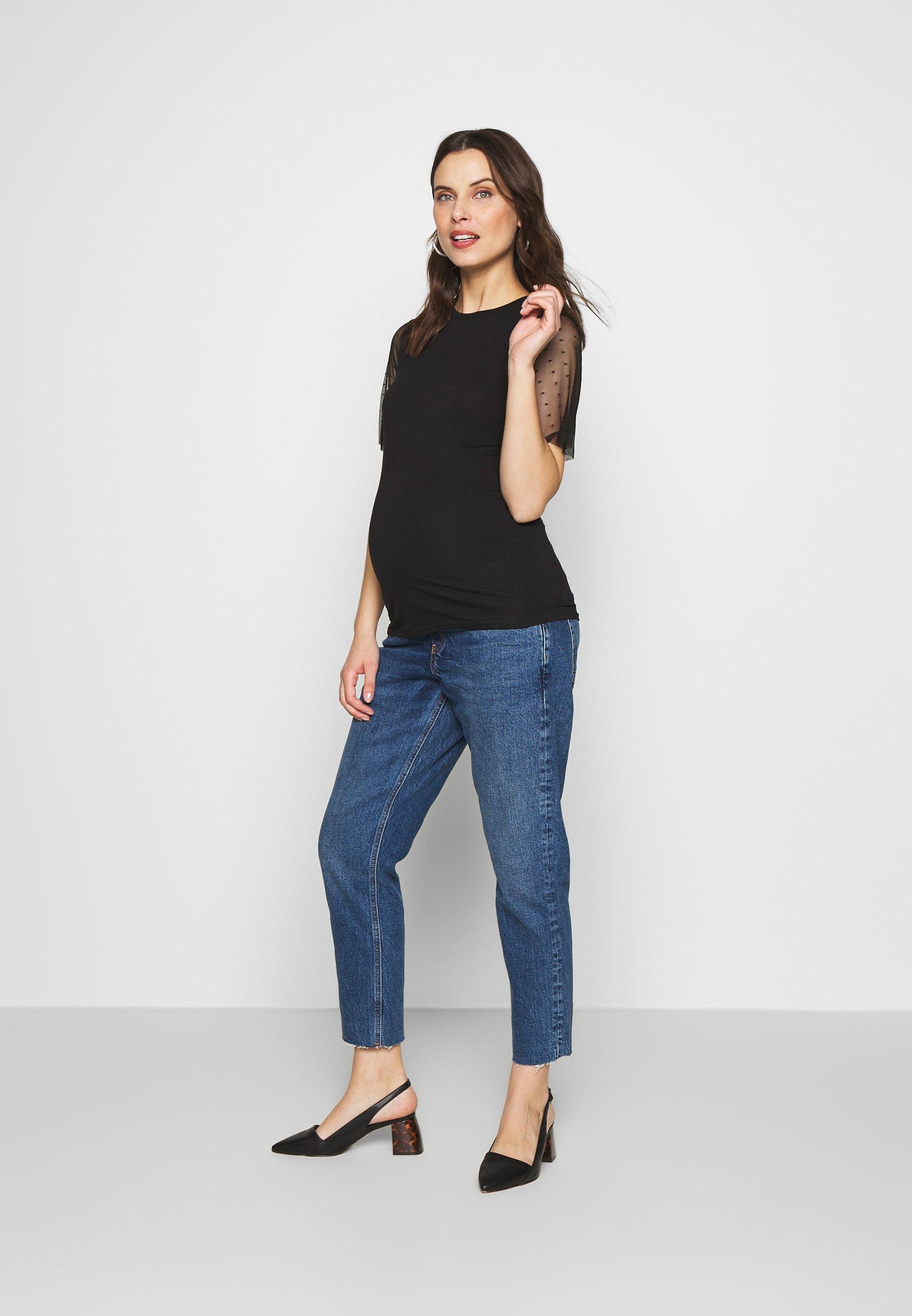 Topshop Maternity 32'STRAIGHT CLEAN - Jeansy Straight Leg - blue denim