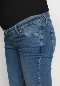 Topshop Maternity - JAMIE CLEAN - Skinny džíny - blue denim - 3