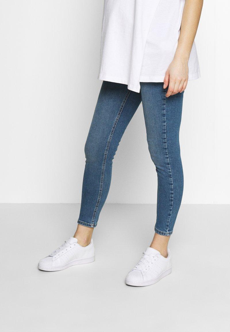 Topshop Maternity - JAMIE CLEAN - Jeans Skinny Fit - blue denim
