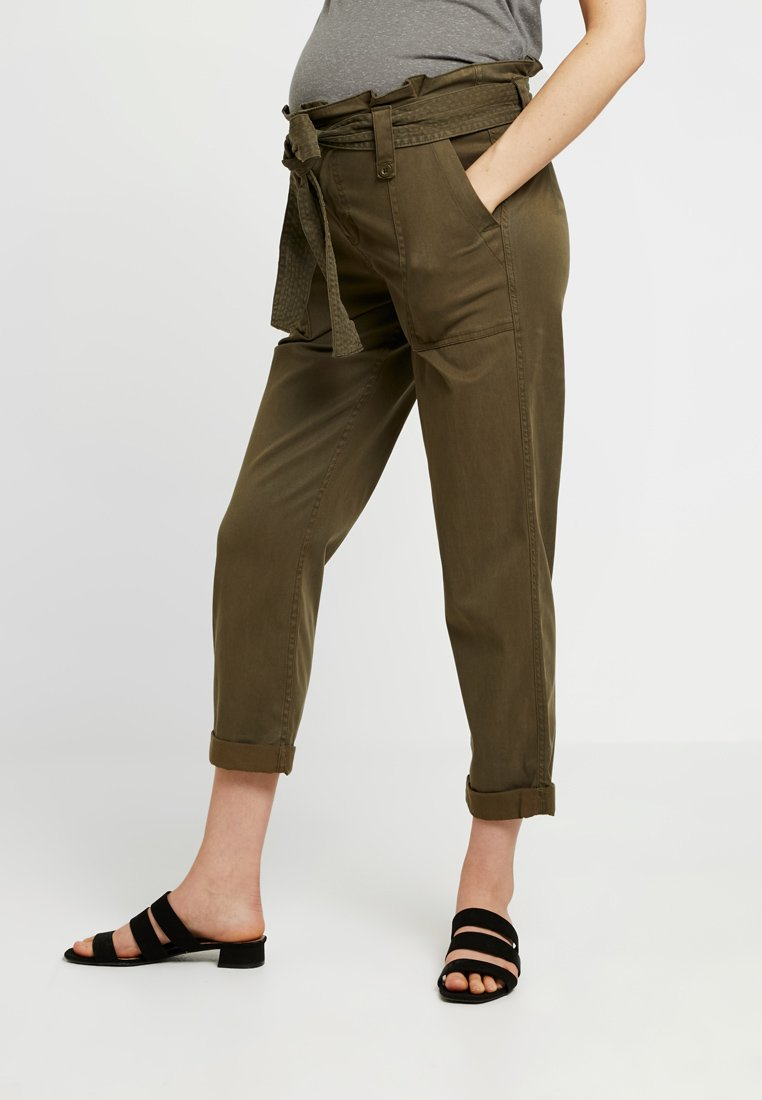 Topshop Maternity - BELTED UTILITY - Trousers - khaki