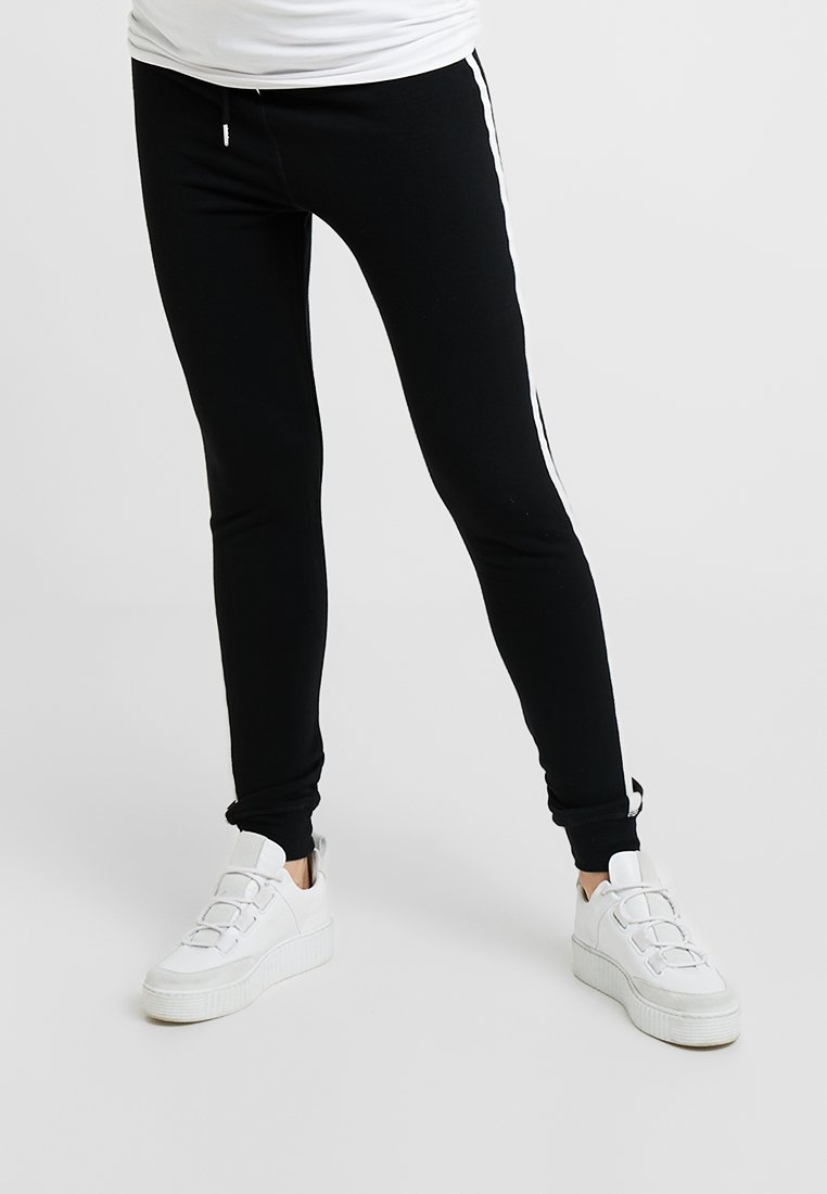 Topshop Maternity - SIDE STRIPE JEGGER - Leggings - Hosen - black
