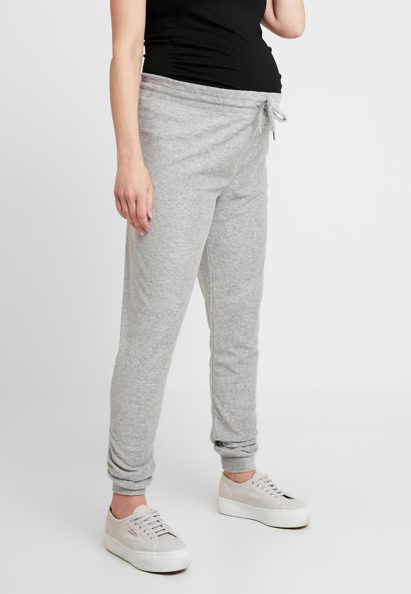 Topshop Maternity - TOWELLING JEGGER - Tracksuit bottoms - light grey
