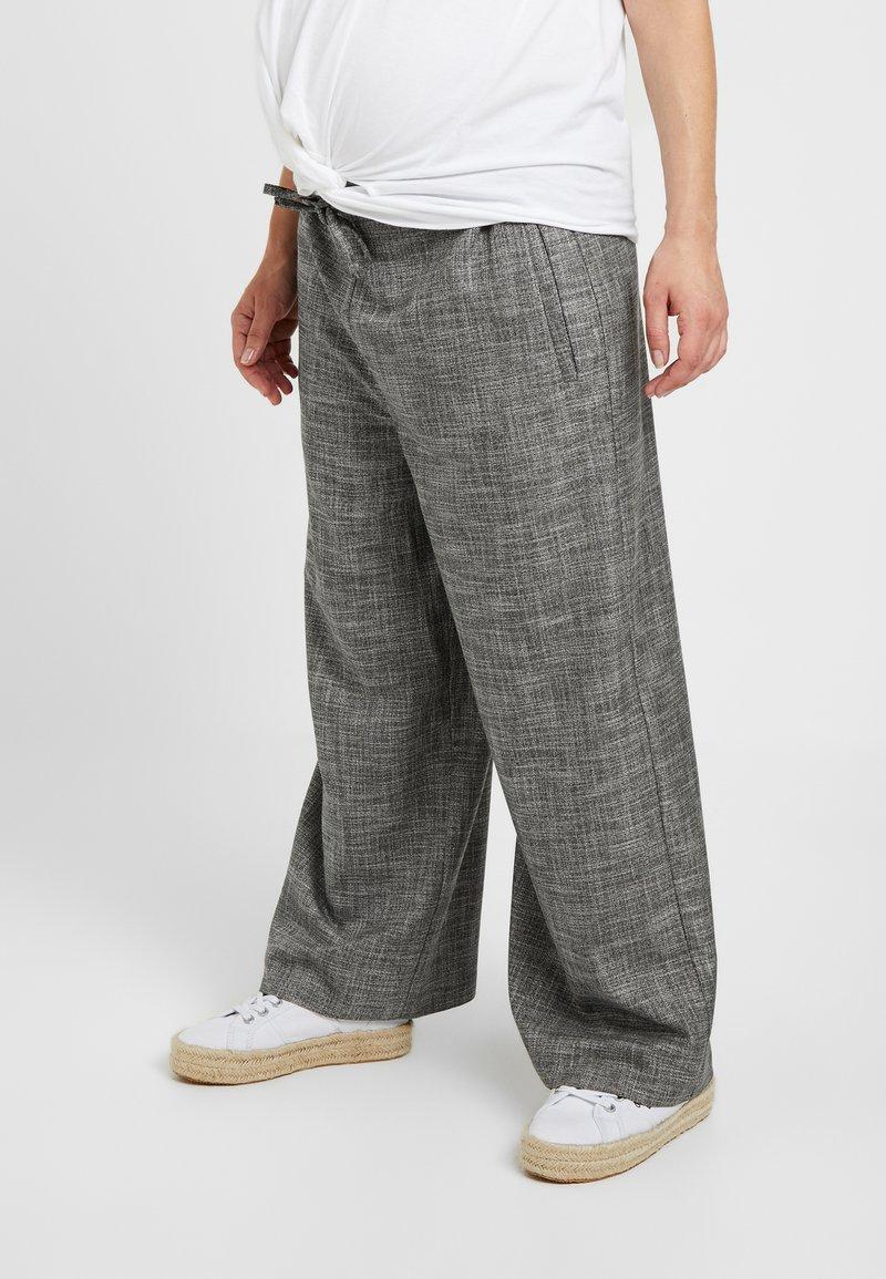 Topshop Maternity - SALT PEPPER - Spodnie materiałowe - mono