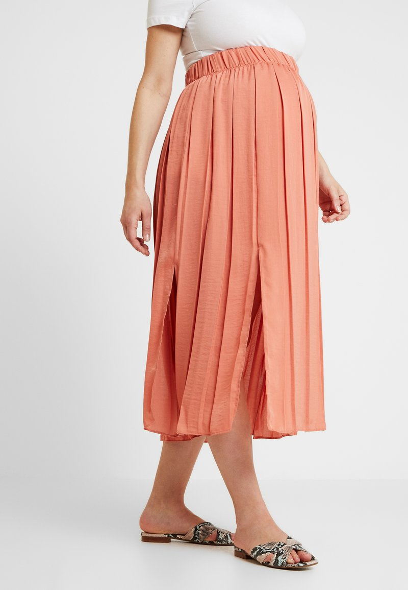 Topshop Maternity - SUMMER SKIRT - Pleated skirt - coral